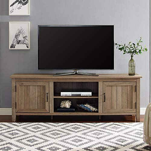 Amazing Offer On We Furniture Az70cs2dro Tv Stand 70 Rustic Oak Online Tv Stand Wood Wood Tv Stand Rustic Living Room Furniture