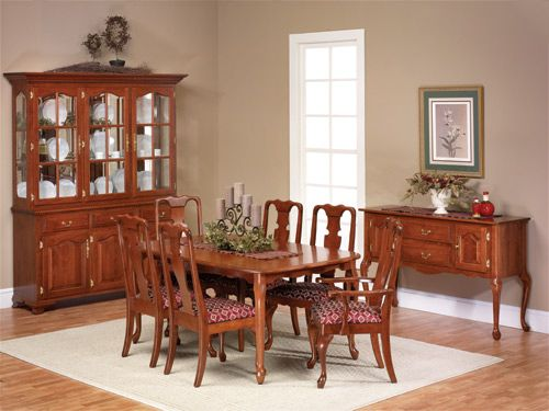 This Lovely Queen Anne Dining Suite Is Built To Last You A Lifetime! Each  Piece Of This Queen Anne Furniture By Amish Craftsmen Who Take Great Pridu2026