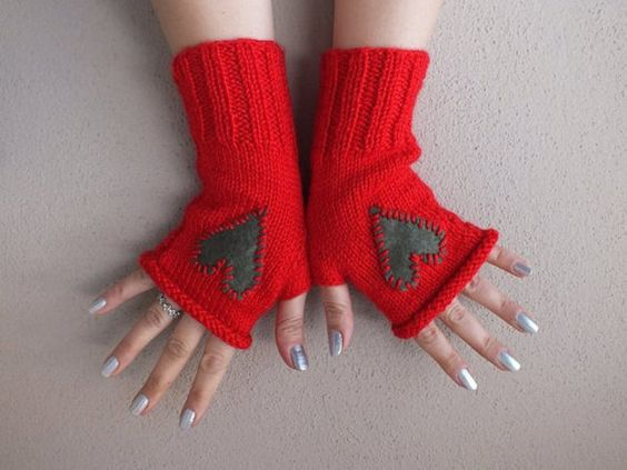 Paarhandschuhe - free shipping- fingerless gloves, knitting gloves, - ein Designerstück von bridal-2 bei DaWanda