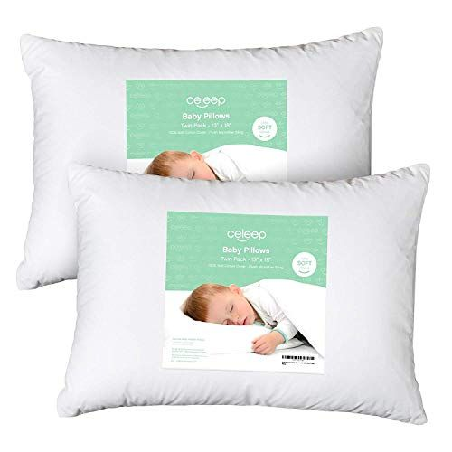 Toddlers Washable /& Hypoallergenic Perfect For Travel Kea Safari Bed Set 13X18 Soft Organic Cotton Baby Pillows For Sleeping Toddler Cot Infant Toddler Pillow With Cute Pillowcase Kids