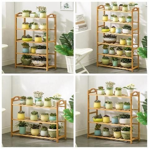 Long Plant Shelf Outdoor Multiple Tier Plant Stand Indoor Flower