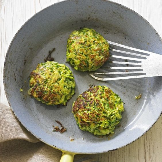 Our courgette fritters take minutes to make and are absolutely delicious with lamb chops - or on their own for a simple supper