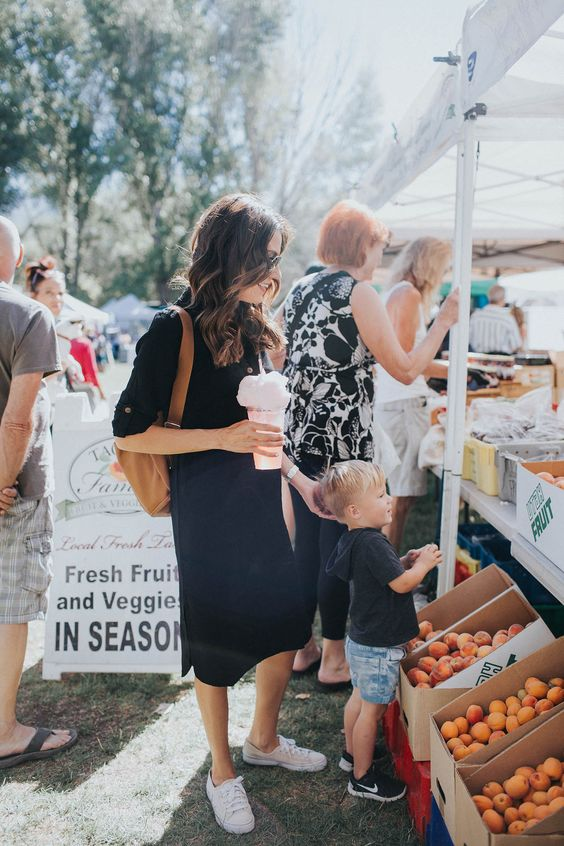 Farmers market style with the little                              …