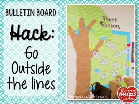 bulletin board hack: think outside the lines