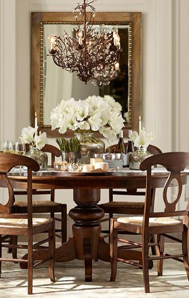 90 Stunning Dining Rooms With Chandeliers Pictures: Beautiful Dining Room Table & Chandelier