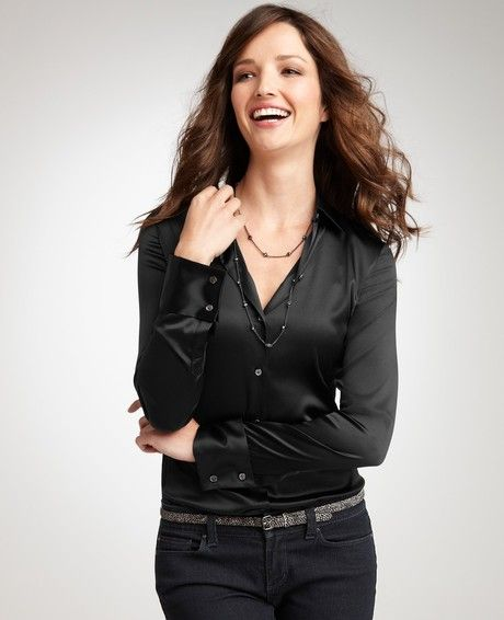 Women's Black Silk Legacy Blouse | Clothing, Taylors and Black