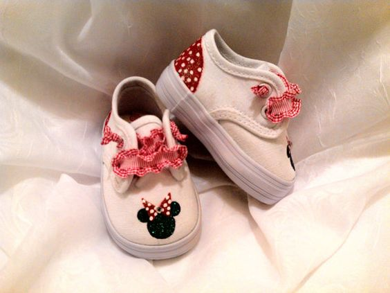 SALE Minnie Mouse Toddler shoes by sweetfeetbybrit on Etsy, $25.00