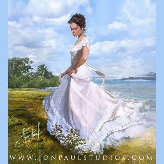 The Art of Jon Paul #art #artwork #beauty #bookcover #beautifulwomen #painting #portrait #romance #love #illustration #fantasyart #romancenovel #victorian#coverart#photography#fashion#hautecouture#wedding#bride