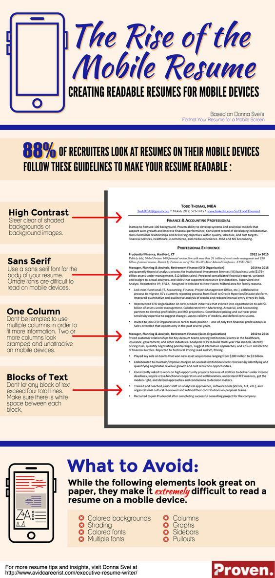 mobile-resume (5) Career Pinterest Curriculum vitae, Ricerca - mobile resume