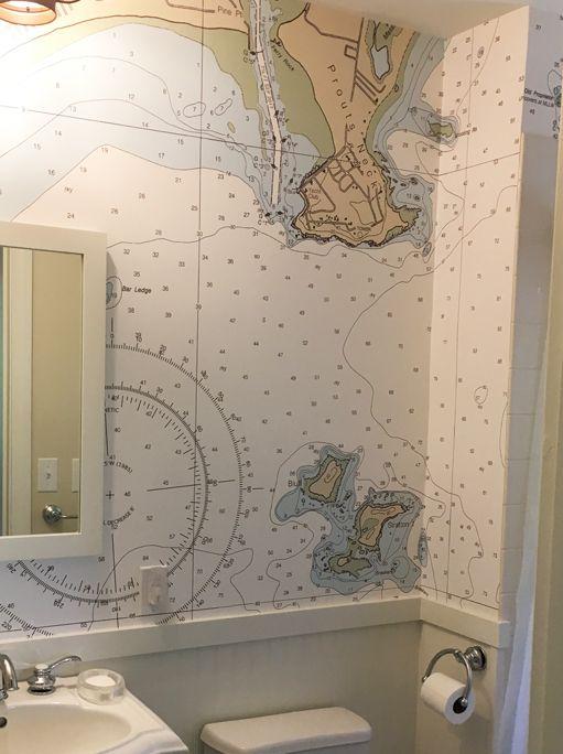 Nautical Chart Wallpaper Nautical Map Wallpaper Nautical Charts By Navchartart Nautical Wallpaper Map Wallpaper House Color Schemes
