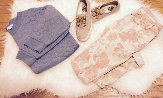 Gap quilted sweater, Current Elliott jeans, Vans shoes