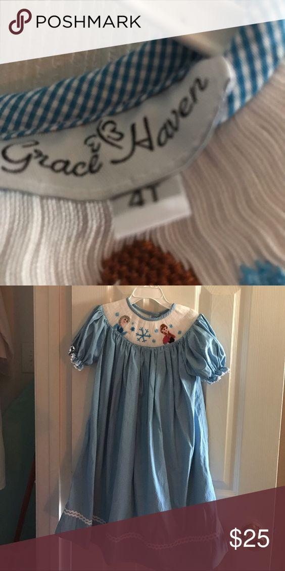 "Size 4T smocked ""Frozen"" dress Size 4. Smocked ""Frozen"" dress Dresses Casual"