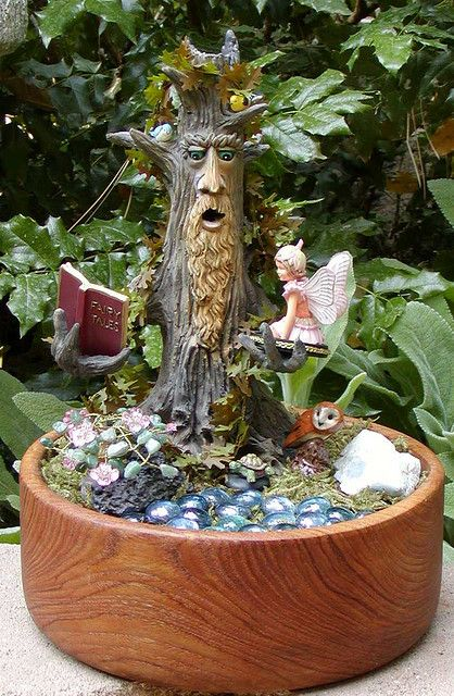 An indoor Fairy Garden: