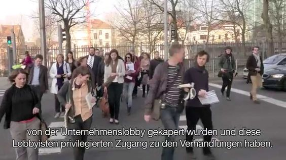 "Im Brüsseler Lobby-Dschungel: Lobbyismus während der TTIP-Verhandlungen - ""Where they ban Basic Rights and Net Neutrality - instead of lobbycontrol - they also ban Democracy at the end"" ... (dali48, 2013)"