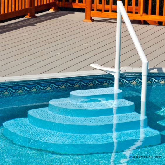 Swimming pool wedding cake step swimming pool ladders stairs replacement steps for swimming - Above ground pool steps for handicap ...