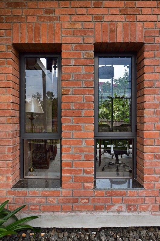 Gallery Of Bonochhaya Experience Centre Abin Design Studio 19 Brick House Designs Brick Exterior House House Exterior