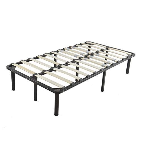 Caliybrid Wooden Bed Slat And Metal Iron Stand Queen Size 7 Bed