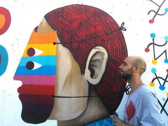 Artista y graffitero mexicano Saner