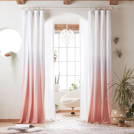 Ombre Blackout Curtain Curtains In 2019 Blackout Curtains