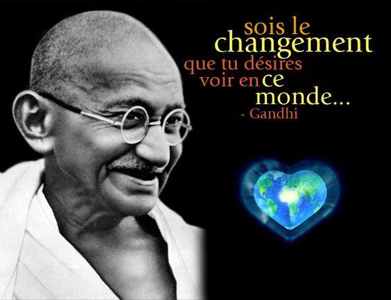 Citations et Panneaux Facebook à partager: Citation de Gandhi sur ...: