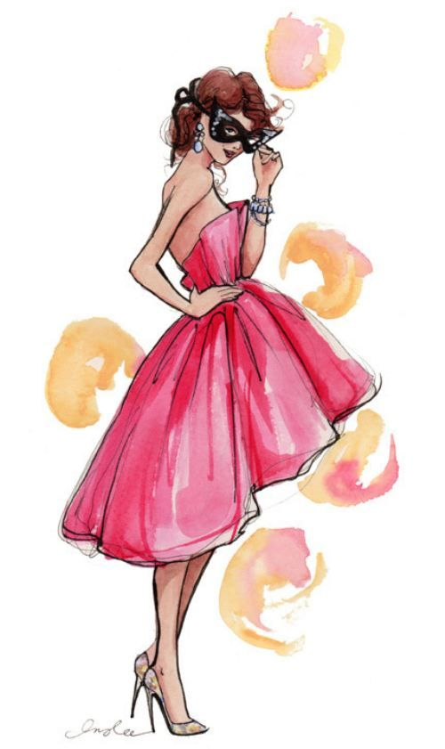 It S A Girl Thing 26 Photos Croquis De Robe Aquarelle Et Filles