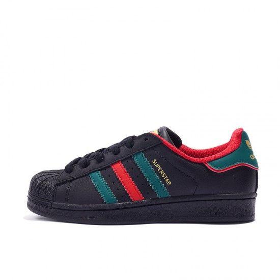 Adidas Superstar Schwarz Unisex Rot Blau Lassige Schuhe D96975 In 2020 Adidas Superstar Schwarz Adidas Superstar Schuhe Schwarze Adidas Superstar