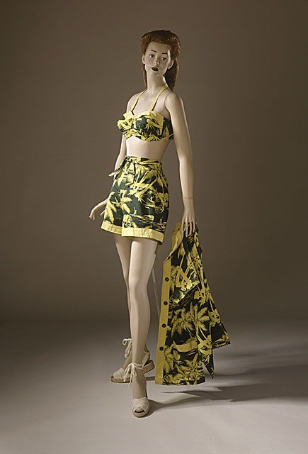 Catalina Sportswear   Woman's Two-piece Bathing Suit and Jacket, late 1940s