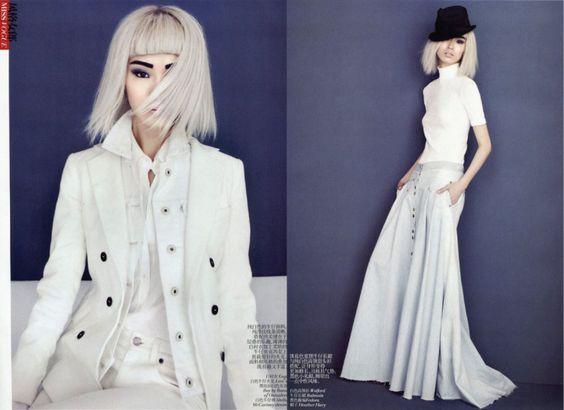 Vogue China February 2012  Couture Denim