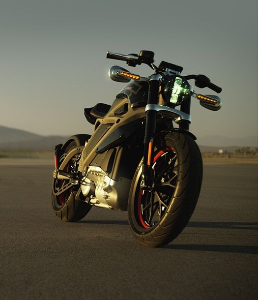 Harley Davidson Project LiveWire electric motorcycle.