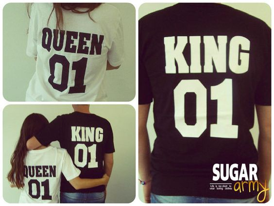 Queen 01 King 01 shirts couple shirt king queen by sugararmy46