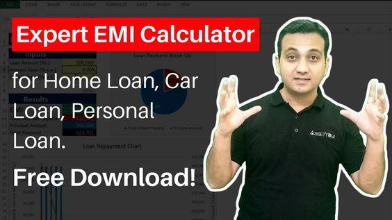 Emi Calculator Excel Home Loan Car Loan Personal Loan Education L Comprehensive Emi Calculator In Excel For Hom Personal Loans Home Loans Repayment