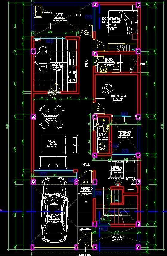 Planos vivienda autocad imagui arquitectura - Cad casa gratis ...