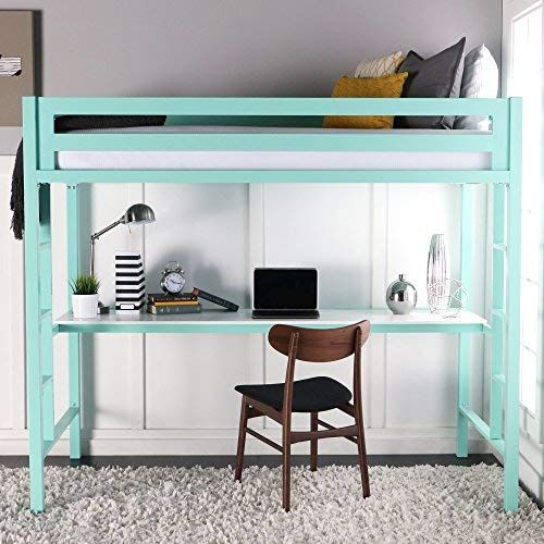 Bunk Bed With Desk Twin Loft, Beds With Desks Under Them