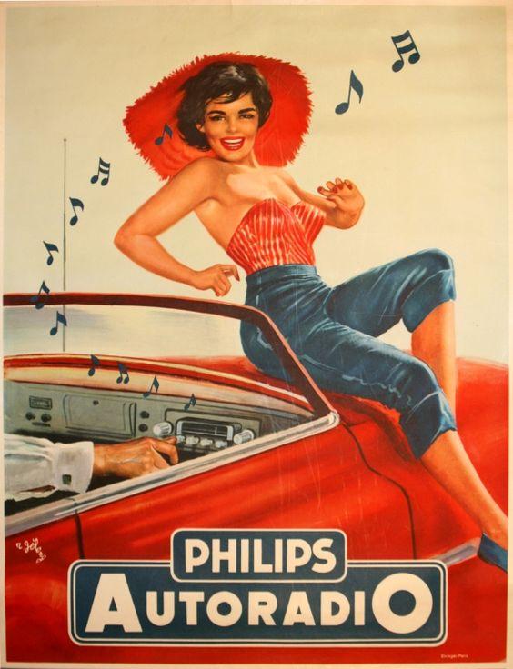 Original Vintage Posters -> Advertising Posters -> Philips Autoradio - AntikBar