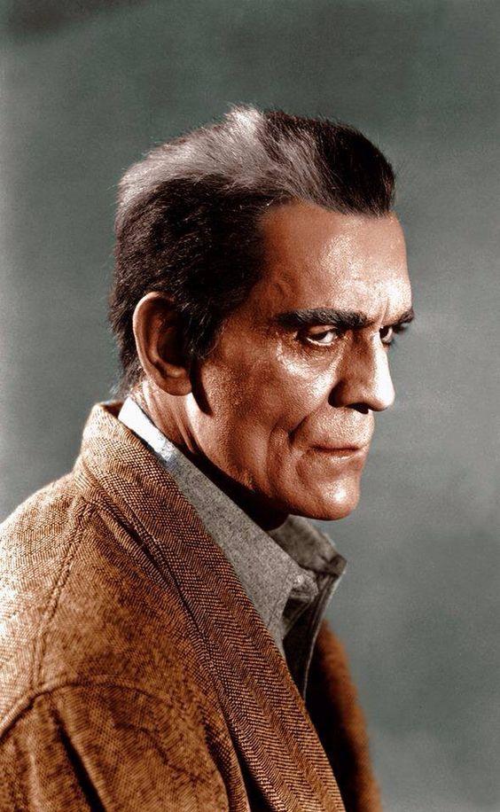 "Boris Karloff colorized photo from ""Isle of The Dead"""