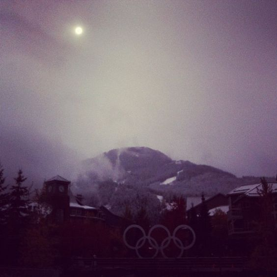 #FirstSnow #Whistler
