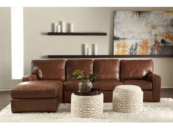 Trang trí phòng khách với gam màu nâu-xám cùng bộ sofa da tphcm
