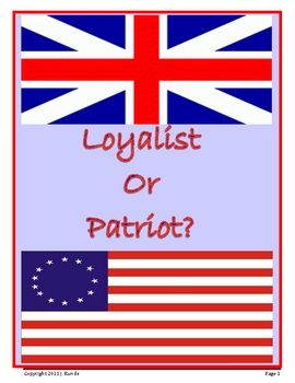 the american revolution vs the patriot essay Loyalists and loyalism in the american revolution lesson plan  loyalists, those colonists that affirmed britain's authority over the colonies, were described at the time as persons inimical to the liberties of america  a political-religious argument can be examined also in one of the 1770 dougliad essays  students are likely to.