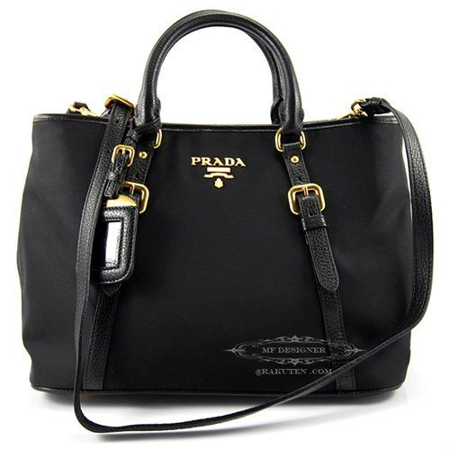 2c00acbdbcf300 ... prada black clutch bag - Prada BN1841 Tessuto Vitello Daino Leather  Nylon Satchel Crossbody . ...