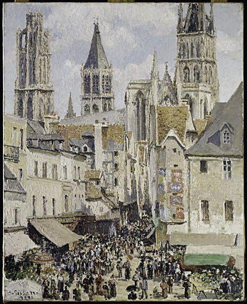 Rue de l'Épicerie, Rouen (Effect of Sunlight) - Pissarro - Met - NY