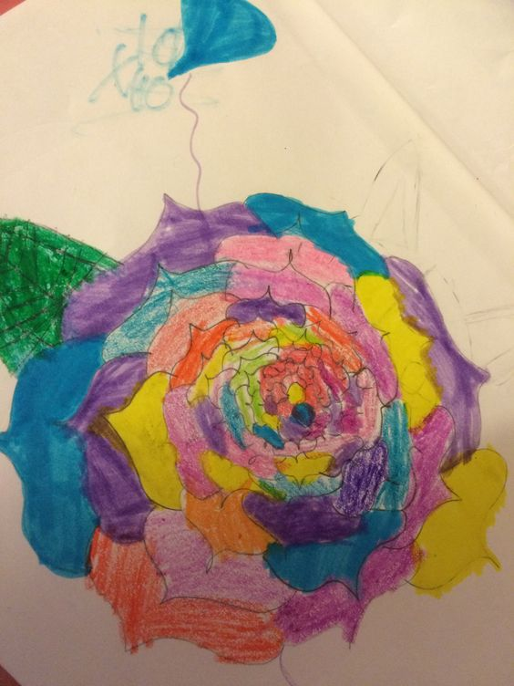This Is A Flower I Think Really Pretty But Easy To Draw