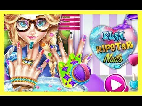 Elsa Hipster Stylish Nail Salon Dress Up Games For Girls