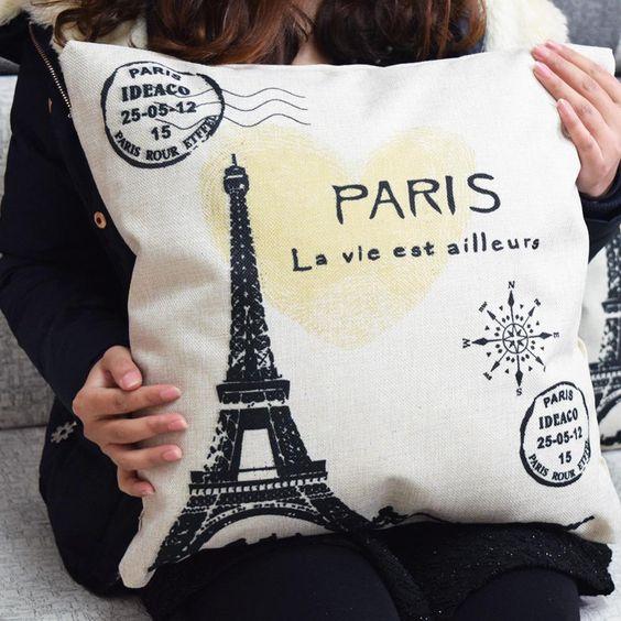 Outdoor Chair Cushions Clearance Vintage Paris Eiffel Tower Pillow Cushion Cover Pillow Case Home Decoration Chair Decoration For Home Decor Sofa Pillowcase Patio Chair Cushions Clearance From Myq316, $3.61| Dhgate.Com