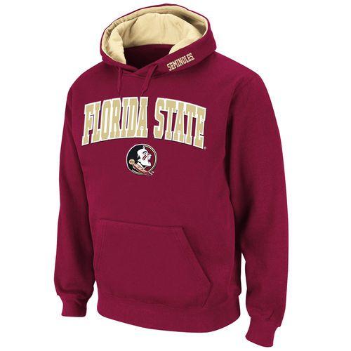 Florida State Seminoles Stadium Athletic Arch & Logo Pullover Hoodie - Garnet