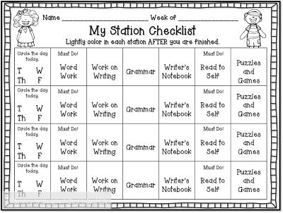 Teaching With Love and Laughter: My Reading Block (Warning: Long Post!), GREAT explanation of first grade literacy centers! Like the checklist idea!