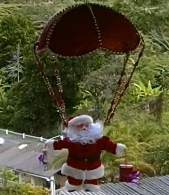 adornos navideos cmo hacer un pap noel en paracadas