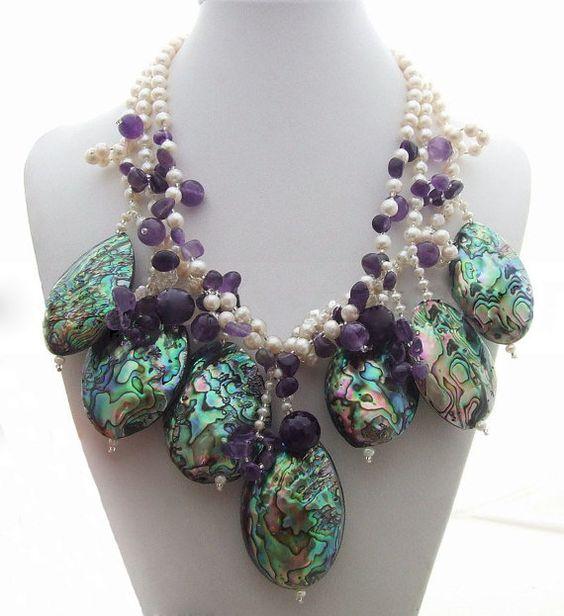 wedding giftbridesmaid giftBead NecklaceBeaded by audreyjewelry