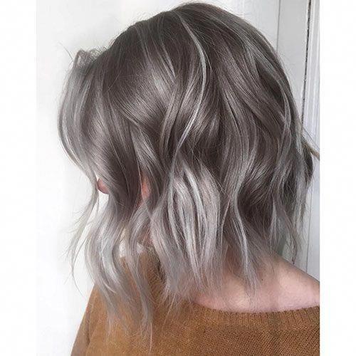 Short Haircut Com Ash Blonde Balayage Short Hair
