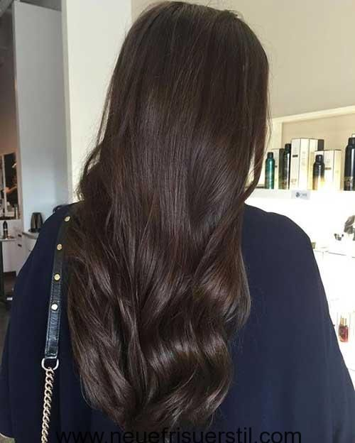 Braune Lange Haare Haarfarben Tone Haar Styling Schokolade Haar