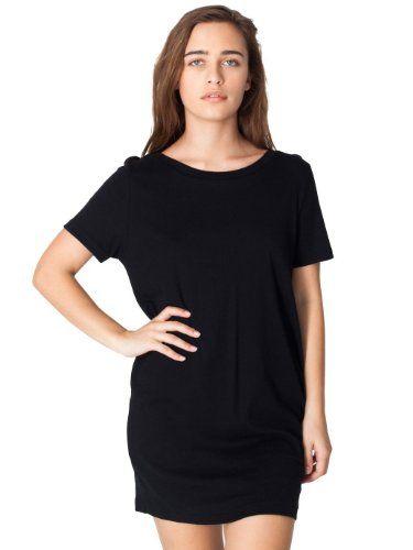 American Apparel Sheer Rib Short Sleeve Tunique Black